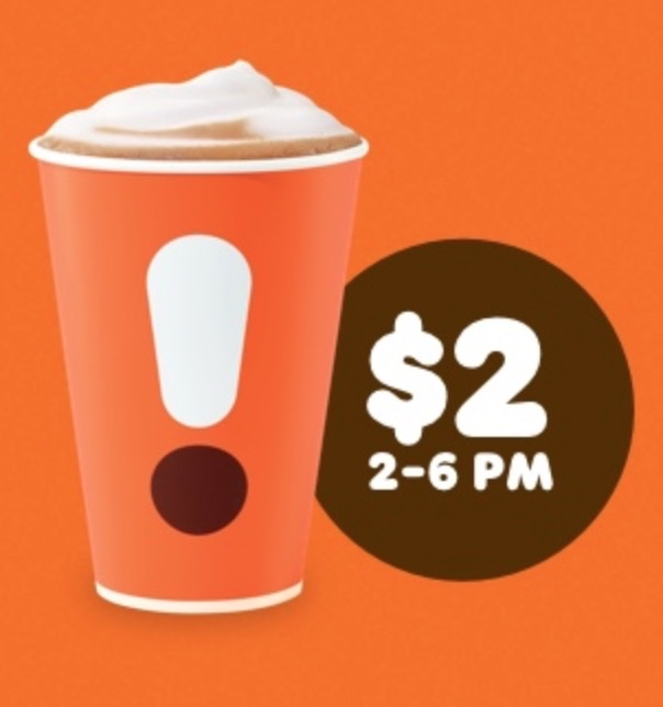Medium Cappuccino Or Latte At Dunkin' Donuts For $2 From 2